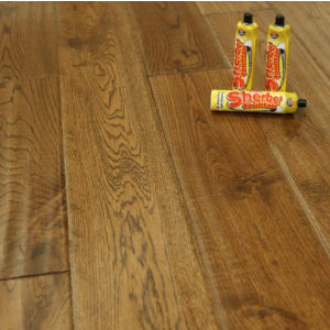 Classic Plank Ancient Handscraped Engineered Oak Wood Flooring 125 x 18/5mm