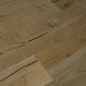 Lario Wide Plank White Handscraped Engineered Oak Wood Flooring 190 x 20/5mm