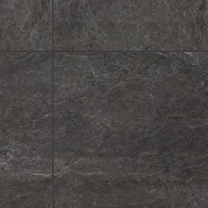 Quickstep Exquisa 8mm Stone Effect Slate Black Laminate Tile Flooring (8mm)