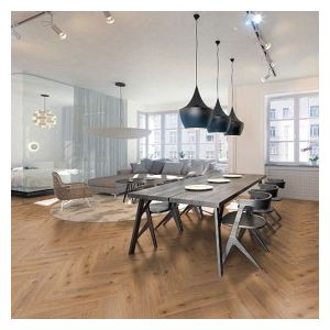 Kronoswiss Herringbone Laminate Flooring,  Alcazar Oak - 8mm x 133mm x 665mm