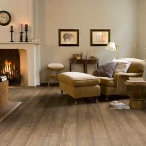 Quick-Step Impressive Ultra Scraped Oak Grey Brown IMU1850 Waterproof Laminate Flooring (12mm)