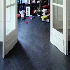 BerryAlloc Laminate Flooring Chateau Herringbone Charme Black 8mm x 84mm