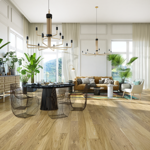 14/2.5mm x 155mm x 2200mm - Forgensee Oak - Click - Brushed & Lacquered - Engineered Wood Flooring