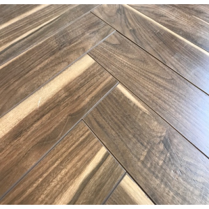 Notting Hill Walnut Herringbone Parquet Laminate Flooring (Matt) 12mm