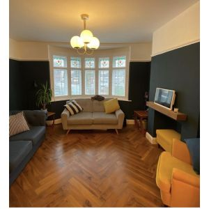 Waterloo Walnut Herringbone Parquet Laminate Flooring 12mm