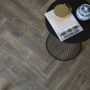 BerryAlloc Laminate Flooring Chateau Herringbone Java Brown 8mm x 84mm