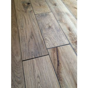 Lagginhorn Brushed White Engineered Oak Wood Flooring 18/5mm x 125mm