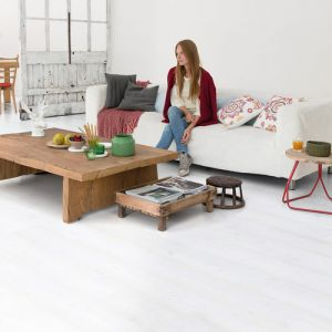 Quick-Step Impressive Ultra IMU1859 White Planks Waterproof Laminate Flooring (12mm)