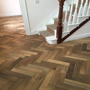 Pesaro Smoked Oak Herringbone Engineered Wood Flooring 400 x 18/5mm