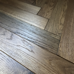Pesaro Smoked Oak Engineered Herringbone Parquet Flooring