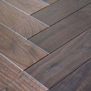 Herringbone Walnut Noce Hardwood Engineered Parquet Wood Flooring