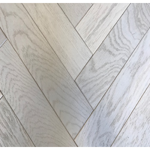 Argent Oak Herringbone Engineered Parquet Wood Flooring 18/5mm x 400mm