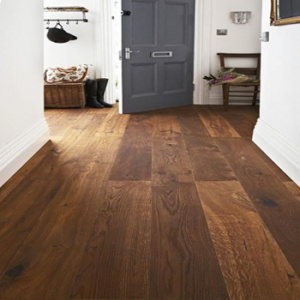 Trelleborg Smoked Brushed Oiled Oak Engineered Wood Flooring 14/3mm x 200mm