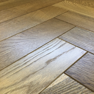Pesaro  Smoked AB Oak Herringbone Engineered Wood Flooring 400 x 18/5mm
