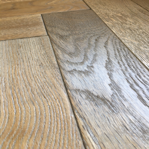 Distressed Lario AB Herringbone Parquet Oak Engineered Wood Flooring