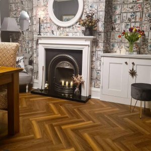 Wembley Park Herringbone Parquet Laminate Flooring 12mm