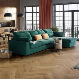 14/2.5mm x 130mm x 725mm - Wakenitz Park Oak - Brushed & Oiled - Herringbone Click