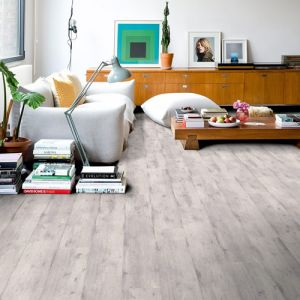Quickstep Impressive Ultra Concrete Wood Light Grey IMU1861 Waterproof Laminate Flooring (12mm)